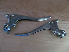 "407P DOHERTY TYPE BSA TRIUMPH NORTON 7/8"" CHROME PLAIN END CLUTCH & BRAKE LEVERS"