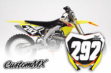 SUZUKI RM RMZ Motocross Number Backgrounds 125 250 450 DECALS / STICKERS