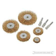 Silverline 228567 5pc Wire Wheel & Taglio Brush Set 6mm PUNTE TRAPANO GAMBO Power