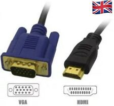 1080P HDMI MALE TO VGA MALE Video Converter Adapter Cable For DVD HDTV PC -1.8M