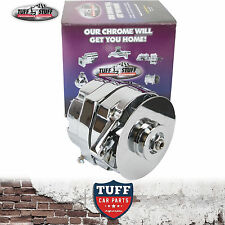 EH HD HR Holden Red 6 Cylinder Tuff Stuff Chrome Alternator 100 Amp Internal Reg