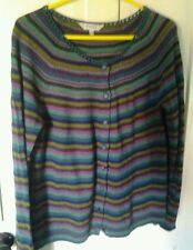 Cashmere mix cardigan by  EAST. Striped size 16 lovely soft
