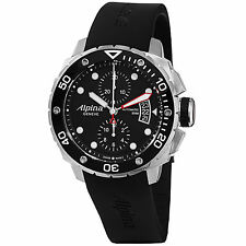 Alpina Seastrong Diver 300 Chronograph Black Dial Steel Men's Watch AL725LB4V26