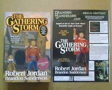 ROBERT JORDAN & BRANDON SANDERSON-THE GATHERING STORM. SIGNED. 1/1. H/B. TOR.