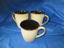 Gibson Option Crackle Brown COFFEE MUGS -SET of TWO (2) *have more items*