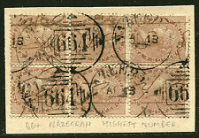 "INDIA: (11266)  Nazerrah ""664"" numeral postmark/cancel"
