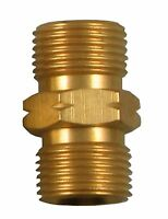 """3/8"""" TO 3/8"""" BSP MALE LEFT HAND THREADED COUPLER REDUCER 1311 x 2"""