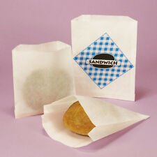 Sandwich Bag White dry waxed paper ,Double-Open Style