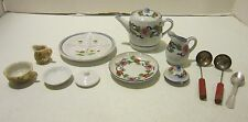 Lot of 10 pc child size including Japan porcelain & 3 pc utensils
