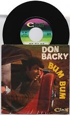 "DON BACKY - BUM BUM / POESIA 45 giri 7"" CLAN CELENTANO ACC 24055 1967 IT"