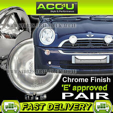 "Ring Chrome-Lite 12v Car 4.5"" Chrome Round Driving Halogen Spot Lamps Lights"