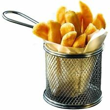 Mini Chrome Chip Fry Fryer Serving Food Presentation Basket by Kitchen Stars