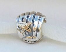 Genuine Pandora 2 tone Sliver 14 carat gold Seashore Shell Charm Retired 790249