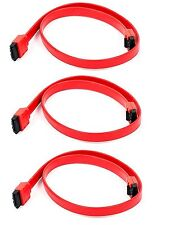 3x 18inch SATA 3.0 III SATA3 SATAiii 6GB/s HDD Hard Drive Data Cable Red Cord