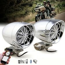 """Motorcycle Stereo System 3"""" Handlebar Wired Control Bluetooth Speaker  Amplifier"""