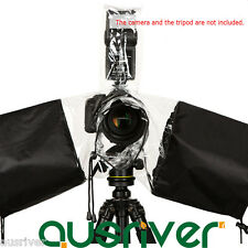 Waterproof Raincoat Rain Coat Cover for Long Short Lens Flash Light DSLR Camera