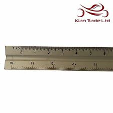 PROFESSIONAL 300mm TRIANGULAR ALUMINIUM TRI-SCALE METAL RULER Architect Engineer