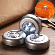 Super Bright LED Push Night Lights Small Circle Torch Self Adhesive Back House