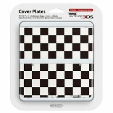 #8 Black & White Checkered Pattern Cover Plate New Nintendo 3DS Official Item