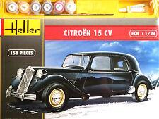 Heller 1:24 Citroen 15 CV Car Gift Set Model Kit