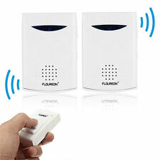 Brand New Portable Twin Pack Wireless Cordless Door Bell Chime 100M Range OV