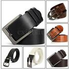 STYLISH MENS LEATHER BELTS CASUAL DRESS TROUSER JEANS WAISTBAND WAIST STRAP UK