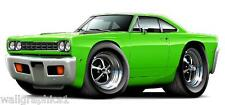 1968 Roadrunner 383 440 426 Wall Graphic Removable Vinyl Decal Home Decor Cling