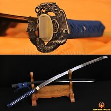 1060 High Carbon Steel Sword Japanese Samurai Snake&Dragon Katana Very Sharp 41""
