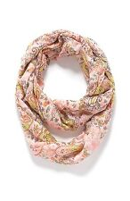 J. Jill - NWT - Whimsical Pink & Multi. Paisley & Floral Print Infinity Scarf