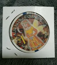 LAS VEGAS FOUR QUEENS Autumn Equinox $1 Casino Chip Ltd 2500 September 22 2001