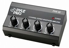 Pyle-Pro PHA40 4-Channel Stereo Headphone Amplifier, New, Free Shipping