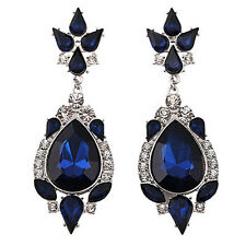 Women's Bohemia Chandelier Earrings Vintage Dangle Eardrop Sapphire Blue Popular
