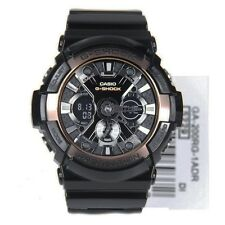 * Nuovo * Casio G SHOCK Da Uomo Nero & Rose Gold XL Oversize Watch ga200rg-1a