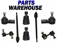8 Pcs Kit Front Inner/Outer Tie Rod End Ball Joint Sway Bar Acura EL Honda Civic