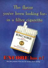 1952 Encore 'Mouthpiece' Cigarette  PRINT AD