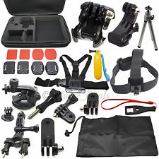 30 en 1 pole head chest mount strap GoPro Hero 2 3 4 caméra accessoires set kit