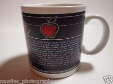 TEACHER GIFT MUG CUP WITH an APPLE with definitions and quotes #p7190135