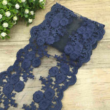 2 Yards Scalloped Double Edge Blossom Cotton Embroidered Lace Trim Ribbon Crafts