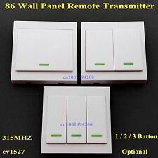 86 Wall Panel Remote Control Transmitter Sticky RF TX Smart Home Room WirelessTX