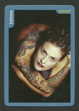 Female Model dressed in a Tattoo Collector Photo Card