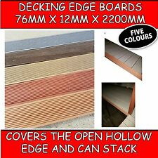 COMPOSITE DECK EDGING - DECKING SIDE BOARDS TO COVER YOUR PURLINS/JOISTS EDGE