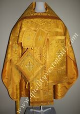 TO ORDER!! Orthodox Priest Russian Style Vestment Nonmetallic Brocade Gold