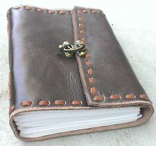 Classic Luxury Genuine Leather Journal I (HANDMADE)- Lock/ Instagram Photo Album