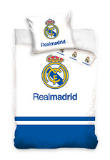 NEW Official FC REAL MADRID blue Baby Toddler Bedding Set 100% COTTON Cot Cotbed