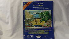 Isle of Dread Module X1 Basic / Expert D&D Adventure Good Condition TSR Moldvay