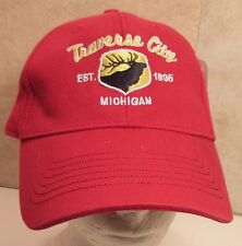 Traverse City Michigan Hat Cap USA Embroidery Moose Cotton New