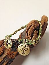 Fossil Brand Fashion Jewelry LIVE THE GREEN LIFE Pave' Tree Bracelet