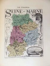 LA FRANCE ET SES COLONIES DÉPARTEMENT DE LA SEINE ET MARNE  EDT 1874 VO DETAIL