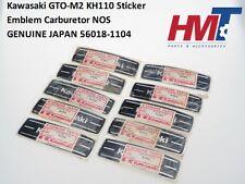 Kawasaki GTO-M2 KH110 Sticker Emblem Carburetor NOS GENUINE JAPAN 56018-1104