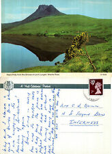 1970's STACK POLLY FROM LOCH LURGAIN WESTER ROSS SCOTLAND COLOUR POSTCARD